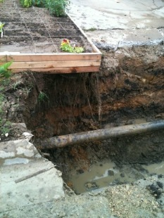 The water main break the week after planting those first beds in Austin.
